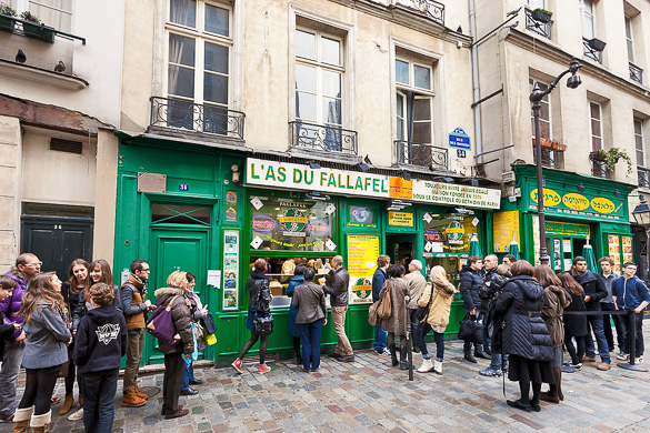Jewish quarter of Le Marais in Paris, France