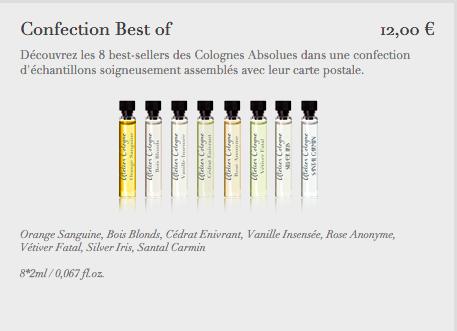 caixa com os 8 perfumes mais vendidos da marca